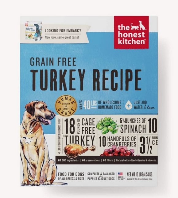 Honest Kitchen Dog Grain Free Turkey 10 Lbs. Box - Le Pet Luxe