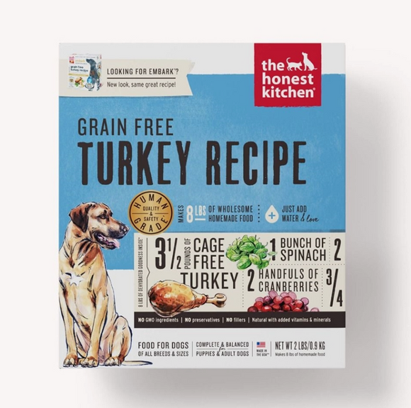 Honest Kitchen Dog Grain Free Turkey 2 Lbs. Box - Le Pet Luxe