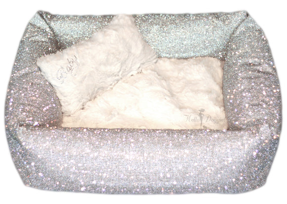 Crystal Dog Bed LARGE - Imperial - Le Pet Luxe