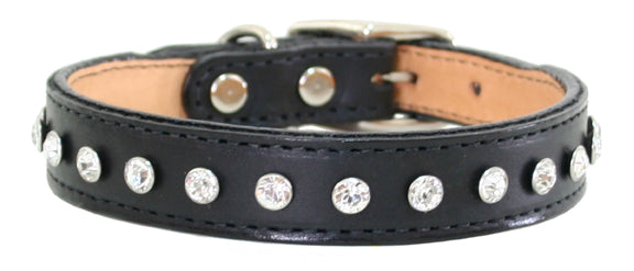 Madison & Maxwell Dog Collar ~ Black - Le Pet Luxe