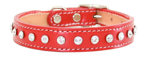 Madison & Maxwell Dog Collar ~ Red - Le Pet Luxe