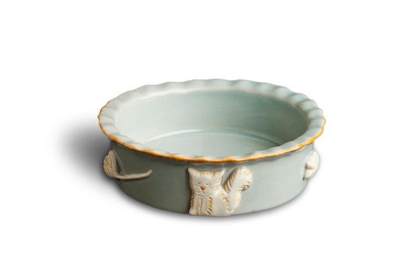 Cat Food/Water Bowl - French Grey - le-pet-luxe