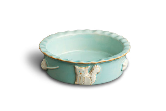 Cat Food/Water Bowl - Sky Blue - le-pet-luxe
