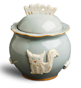 Cat Treat Jar - French Grey - Le Pet Luxe