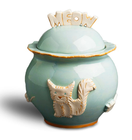 Cat Treat Jar - Sky Blue - Le Pet Luxe