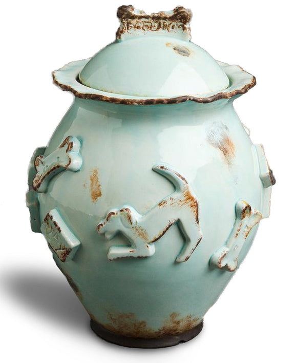 Dog Treat Jar - Baby Blue - le-pet-luxe