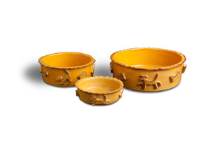 Dog Food & Water Bowls - Caramel - Le Pet Luxe