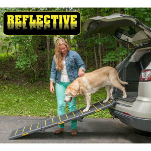 Tri-Fold Extra Wide Reflective Pet Ramp - Le Pet Luxe