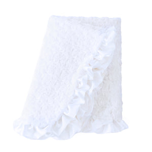 Baby Ruffle Dog Blanket ~ White - Le Pet Luxe