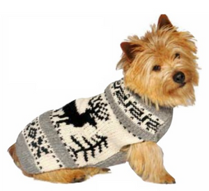 Apres Ski ~ Reindeer Shawl Dog Sweater - Le Pet Luxe