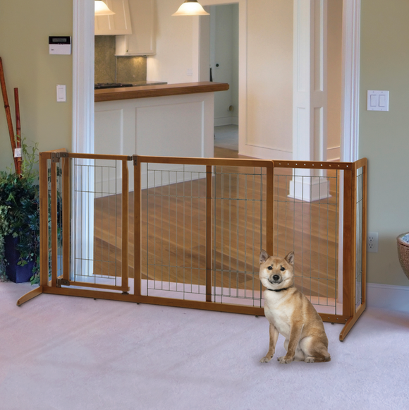 Deluxe Freestanding Pet Gate - le-pet-luxe