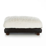 Soho Milo ~ White Faux Leather with Navy Velvet - Le Pet Luxe