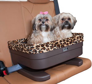 "Bucket Seat Booster ~ Chocolate/Jaguar Swirl 20"" - Le Pet Luxe"