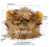 Lion Mane Costume with ears for Small Dogs & Cats - Le Pet Luxe