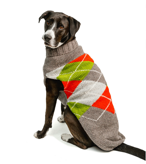 Trendy Argyle dog sweater - Le Pet Luxe