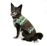 Charcoal Fairisle Wool Dog Sweater - Le Pet Luxe