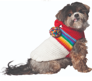 Vintage Ski Hoodie Dog Sweater - Le Pet Luxe