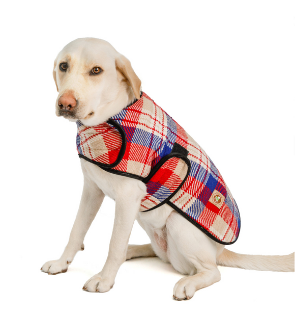 Red Field Dog Blanket Coat - Le Pet Luxe