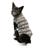 Alpaca Silver Fairisle Dog Sweater - Le Pet Luxe