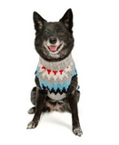 Grey Chevron Striped Dog Sweater - Le Pet Luxe