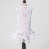 Sweetheart Dog Dress ~ Pink Bow - Le Pet Luxe
