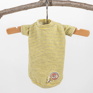 Candy Striped Dog Tee ~ Yellow - Le Pet Luxe
