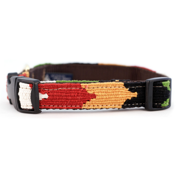 A tail we could wag Side-Release Dog Collar ~ Harvest Chevron - Le Pet Luxe