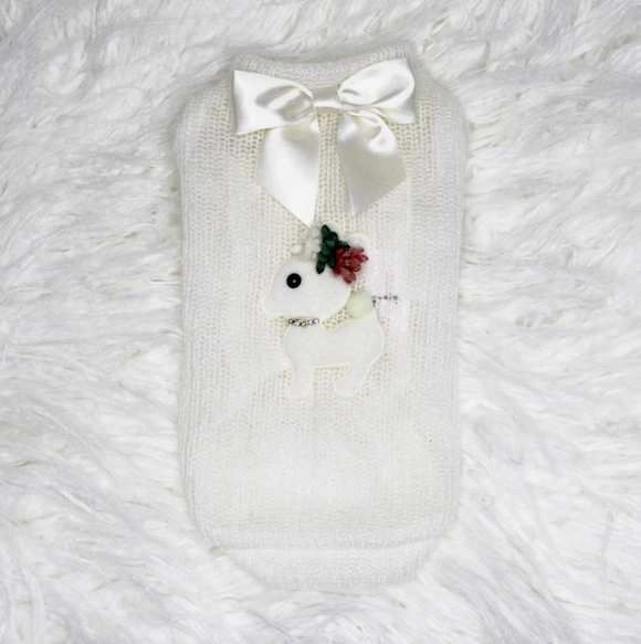 Baby Deer Dog Sweater ~ Cream - Le Pet Luxe