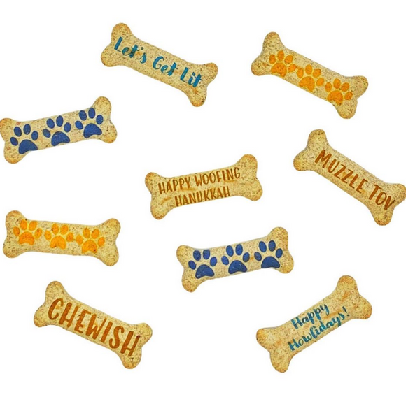Personalized Dog Treats (pack of 8) ~ Hanukkah - Le Pet Luxe