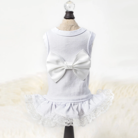 Ballerina Dog Dress ~ White - Le Pet Luxe