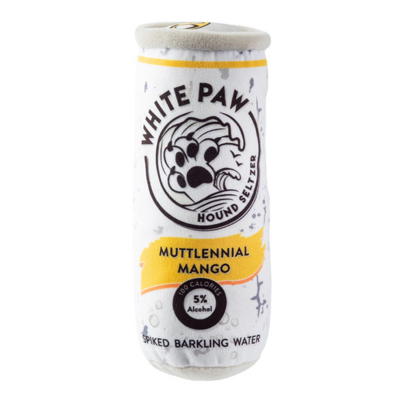 White Paw ~ Muttlennial Mango Seltzer Dog Toy - Le Pet Luxe