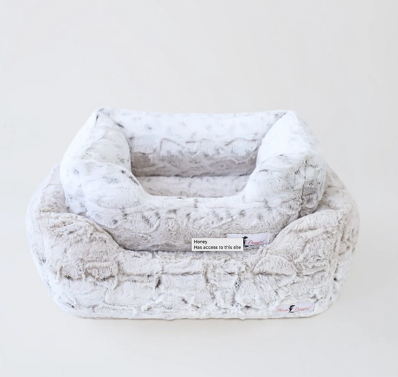 Deluxe Dog Beds - Pearl Leopard - Le Pet Luxe