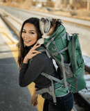 Rover 2 | Big Dog Carrier & Backpacking Pack (30Lbs-80Lbs) ~ Green - Le Pet Luxe