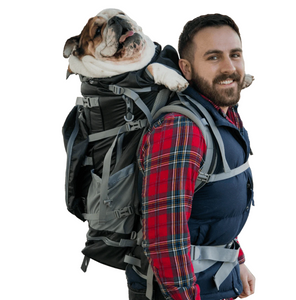 Rover 2 | Big Dog Carrier & Backpacking Pack (30Lbs-80Lbs) ~ Black - Le Pet Luxe