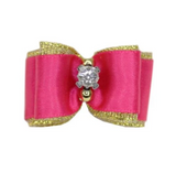 Crystal Dog Bow ~ Purple - Le Pet Luxe