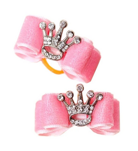 Crystal Crown Dog Bow - Le Pet Luxe