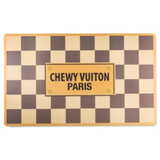 Checker Chewy Vuiton Bowl (Case of 2) - Le Pet Luxe