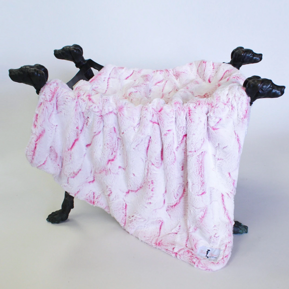 Whisper Dog Blanket ~ Carnation