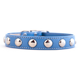 Silver Studded Collar ~ Royal Blue