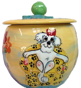 Bichon Dog Treat Jar