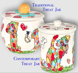 Bichon 3 Dog Treat Jar