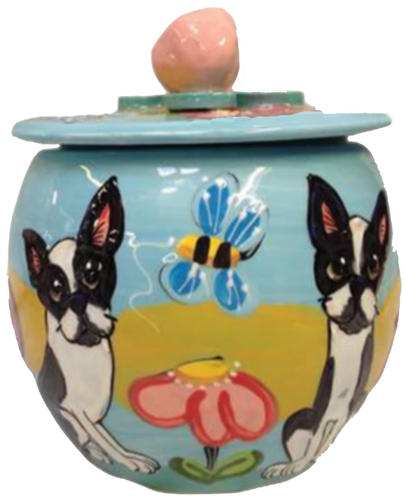 Boston Terrier Dog Treat Jar