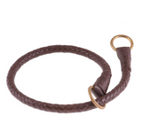 Braided Leather Slip Collars ~ Natural Colors