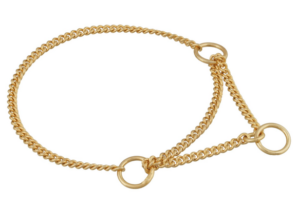 Martingale Show Chain Collar ~ Gold plated