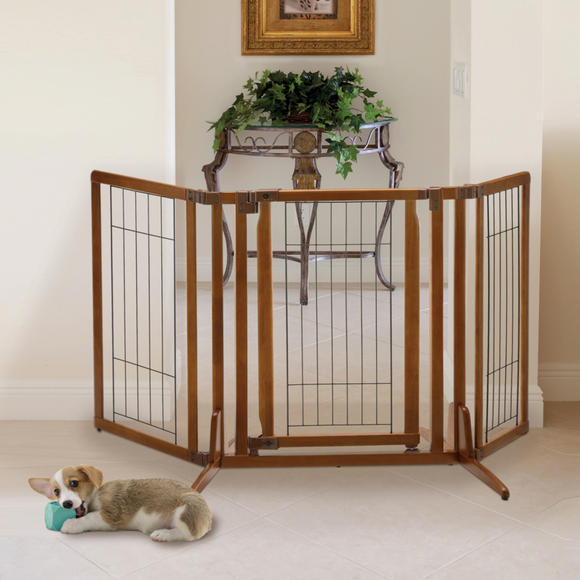 Premium Plus Freestanding Pet Gate - Le Pet Luxe