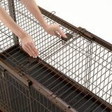 Expandable Pet Crate {Wire Top} - Le Pet Luxe
