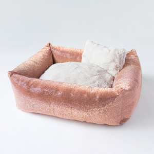 Crystal Dog Bed - Champagne - Le Pet Luxe