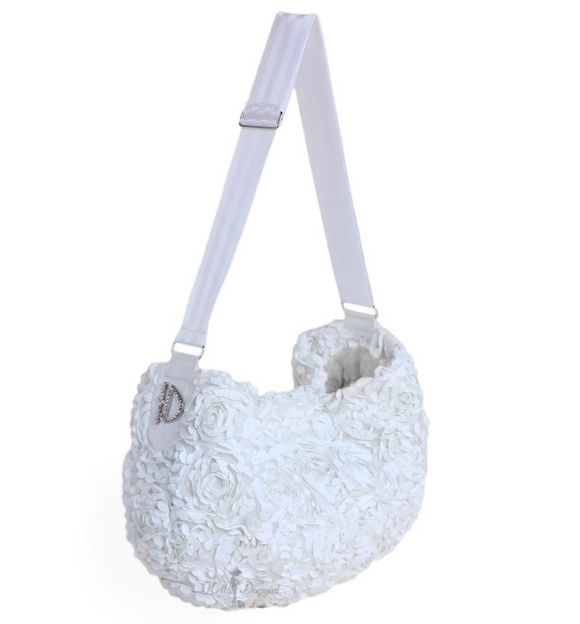 Victorian Luxury Sling White - le-pet-luxe