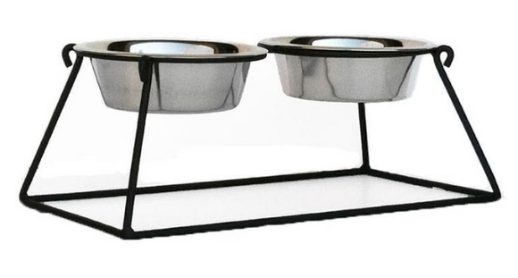 Pyramid Double Diners - Le Pet Luxe