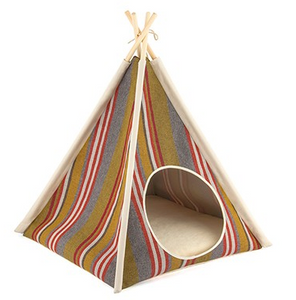Teepee Tent Pet Bed- Woodland - Le Pet Luxe
